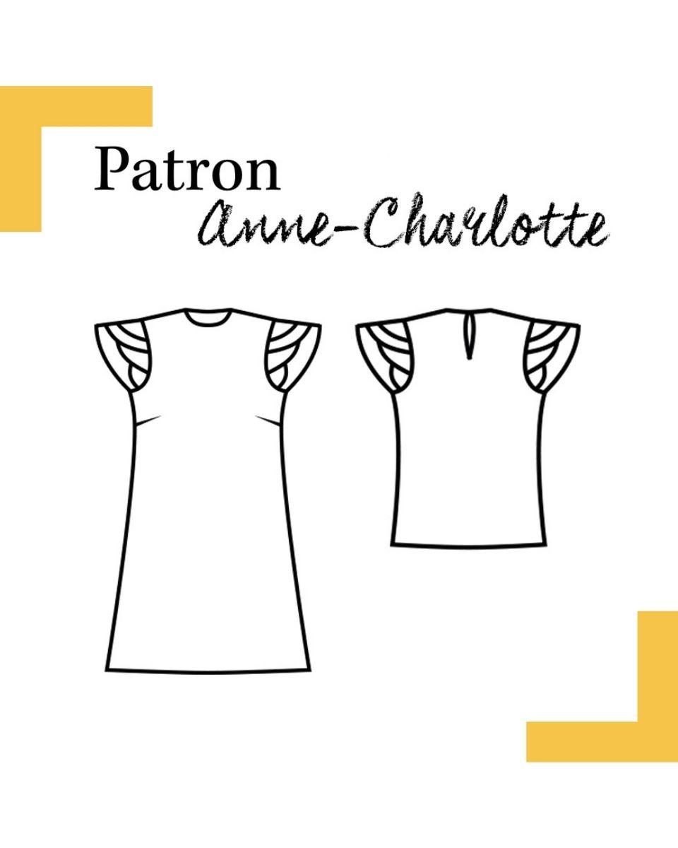 dessin-technique-robe-top-anne-charlotte-louis-antoinette-paris-mode-femme patron couture