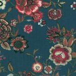 fleurs fond bleu