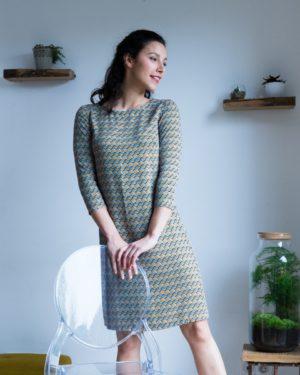 image-patron-couture-robe-droite-facile-a-coudre-tissu-twill-viscose-manches-3-4-La-Plaisante