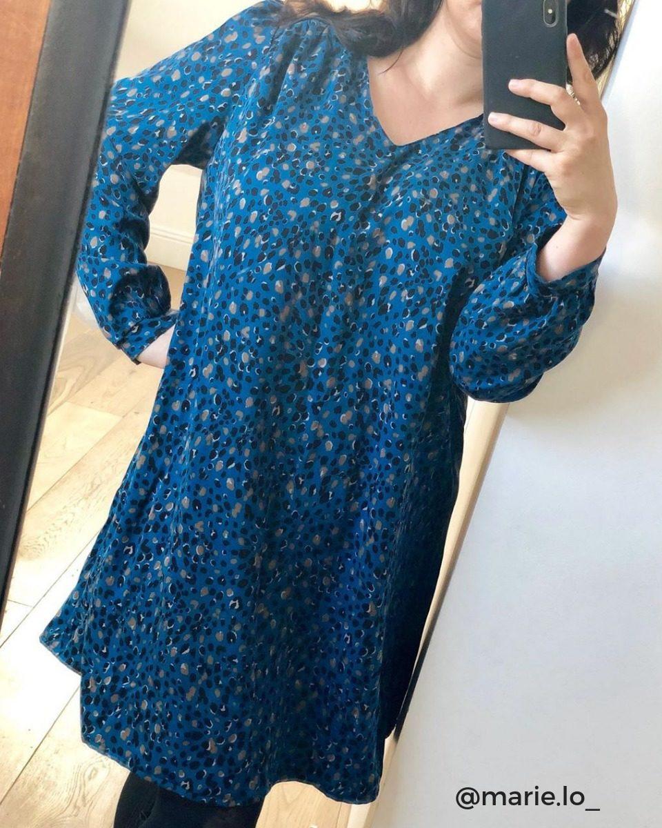 image-patron-couture-robe-droite-a-coudre-col-V-tissu-twill-viscose-uni-La-Craquante