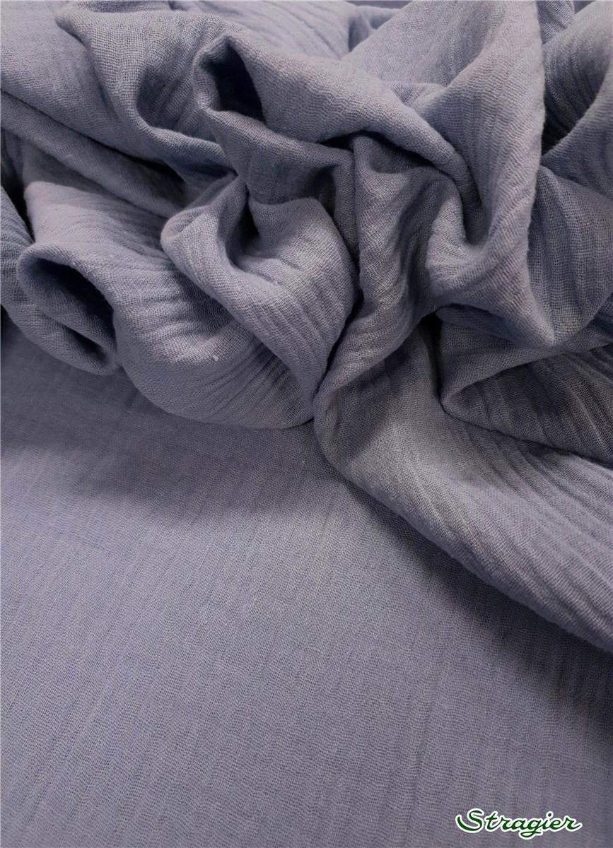 double gaze coton bleu azur