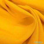 twill viscose peau de pêche jaune soleil