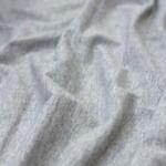 bord côte coton gris