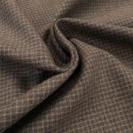 Coton gratté gris galet carreaux 4mm