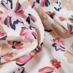 Coton soyeux - aloha - rose-marine