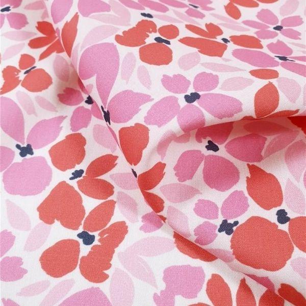 Coton soyeux florie - rose-marine