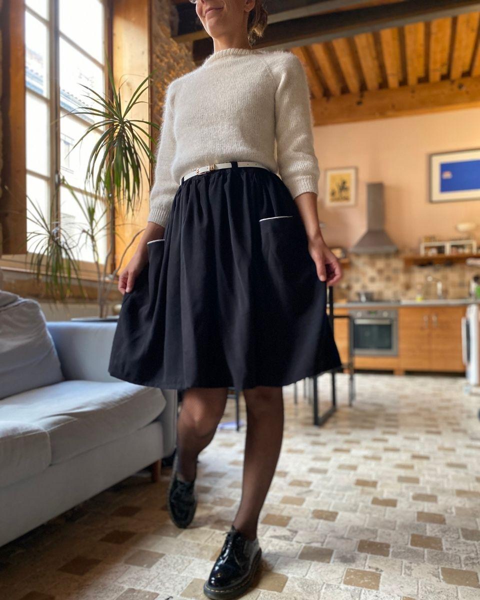 jupe marion par Marion blush noir