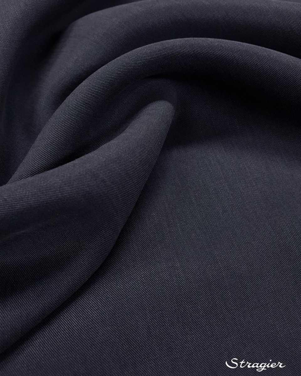 tissu tencel bleu encre