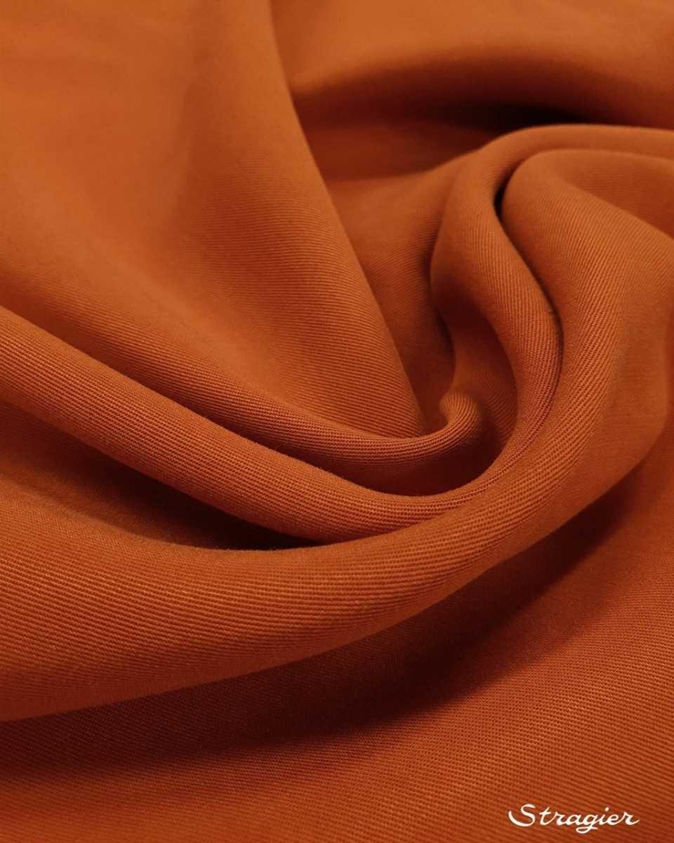tissu tencel terre de sienne