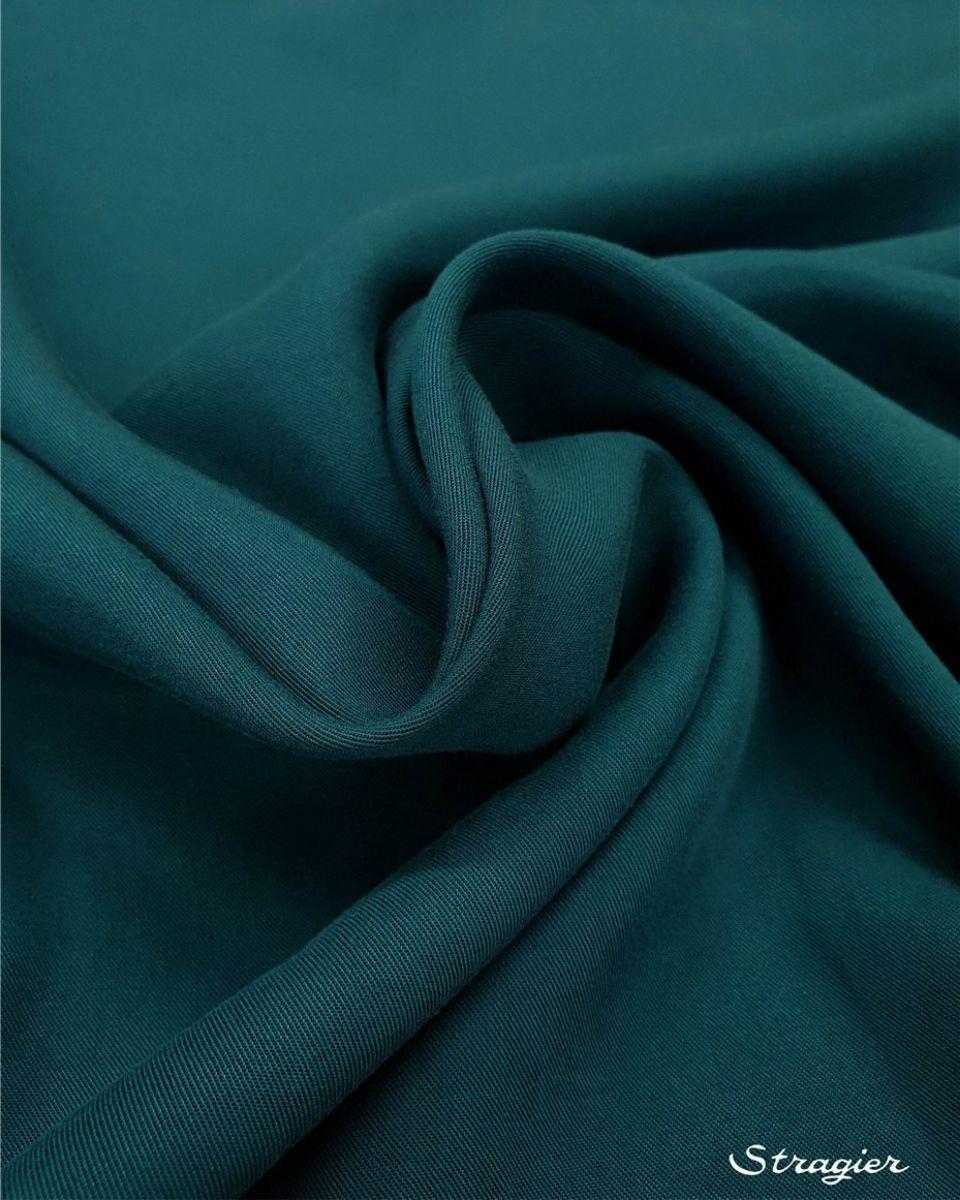 tissu tencel vert canard