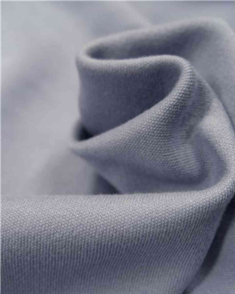 coton maille bleu cendre
