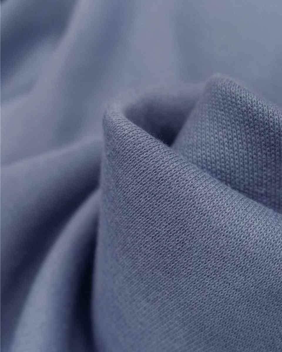 coton maille bleu lavande