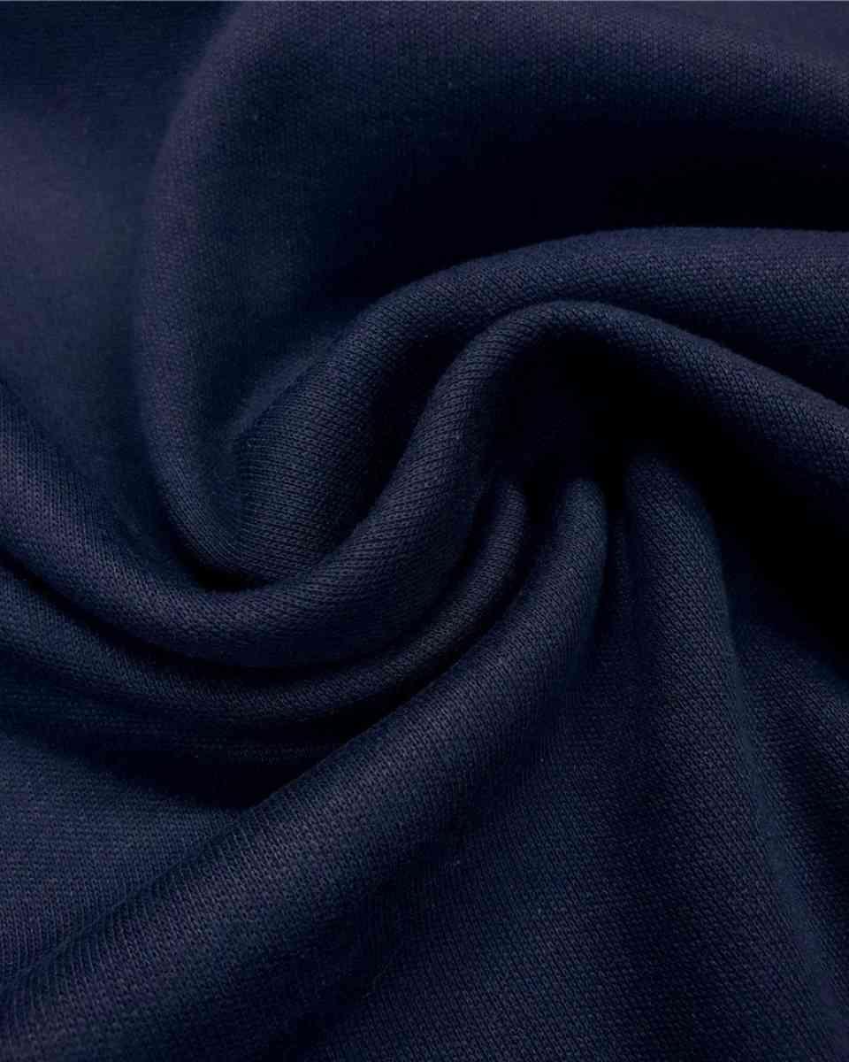 coton maille bleu marine