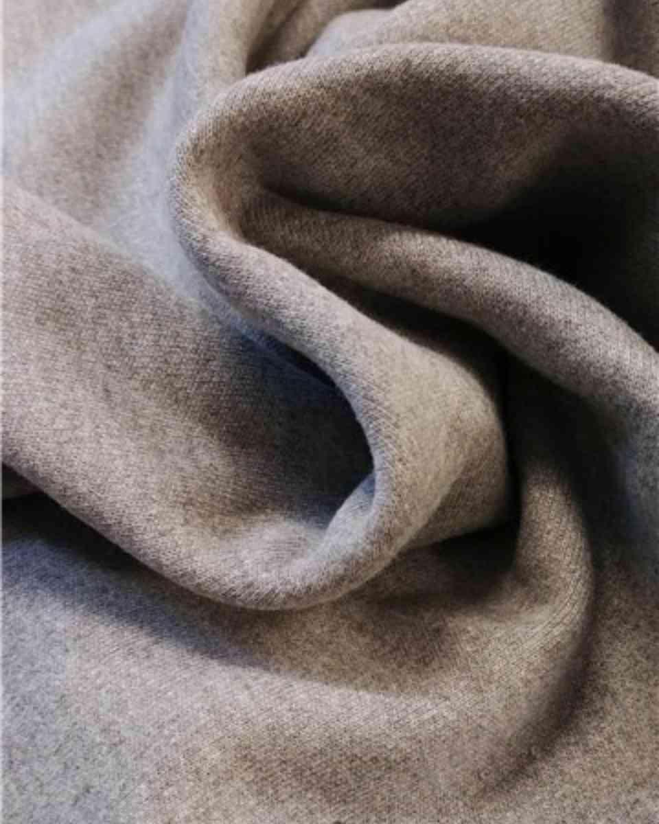 coton maille gris chiné