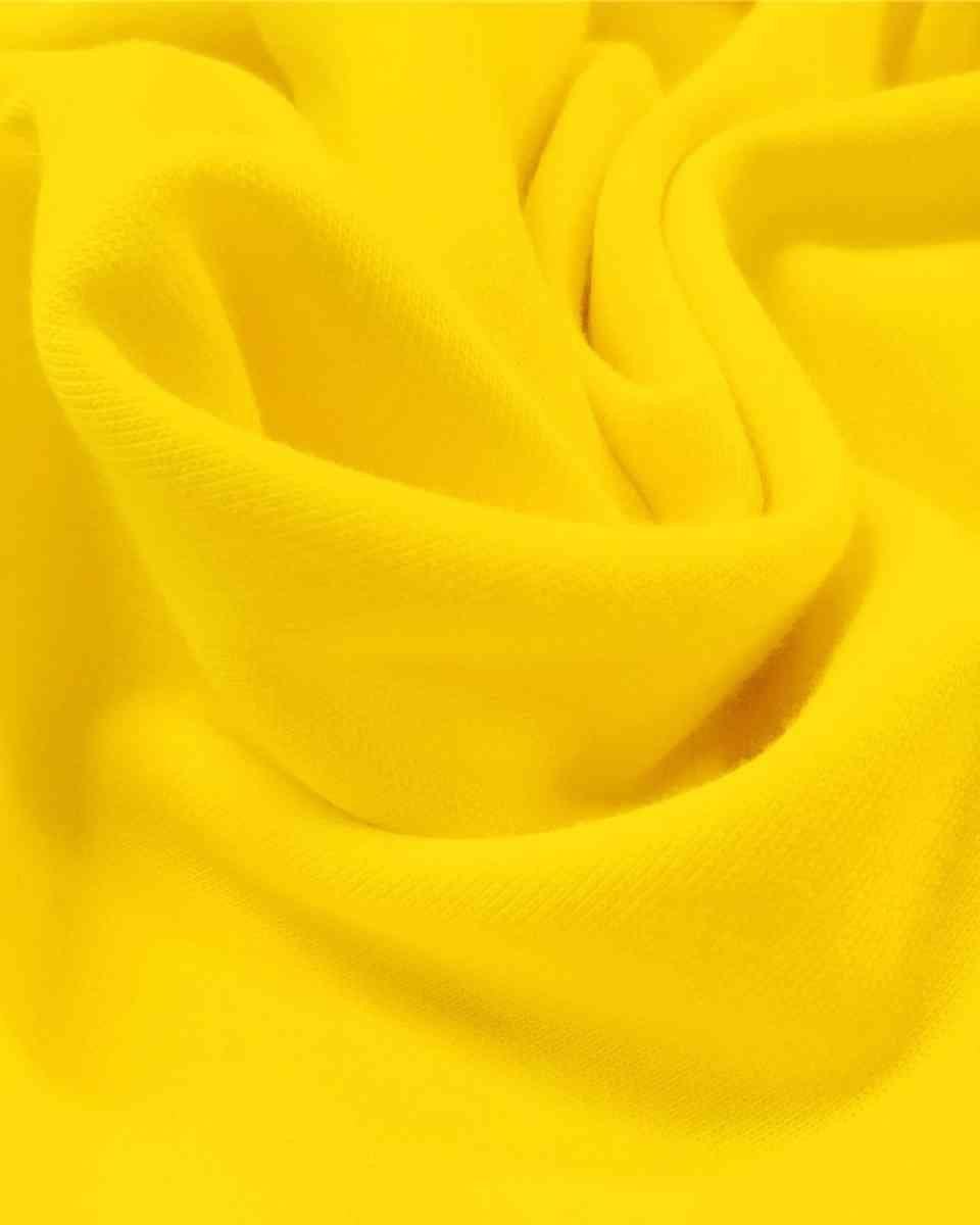coton maille jaune citron