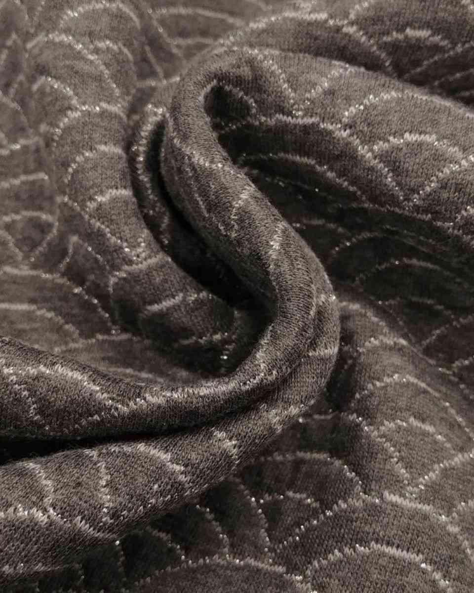 coton maille seigahia graphite argent