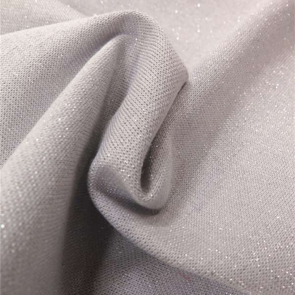 bord-cote lurex gris perlé