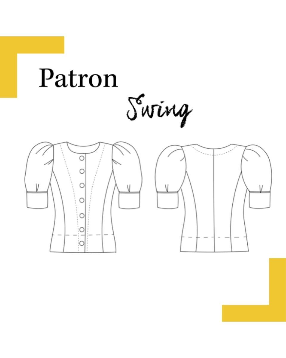 dessin-technique-blouse-Swing-patron-louis-antoinette-paris-mode-femme