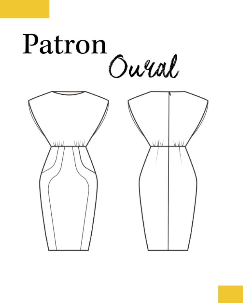 dessin-technique-robe-Oural-patron-louis-antoinette-paris-mode-femme-couture