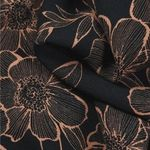 twill viscose camille noir cafe