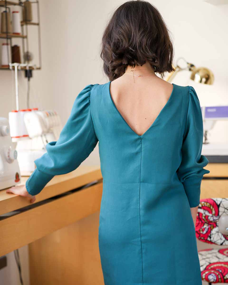robe alice clematisse pattern dos